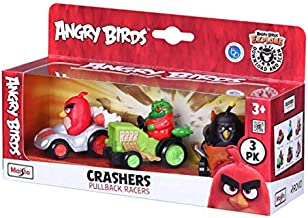 Student Point Angry Birds Crashers Pullback Racers Pack of Three Figures Multicolor