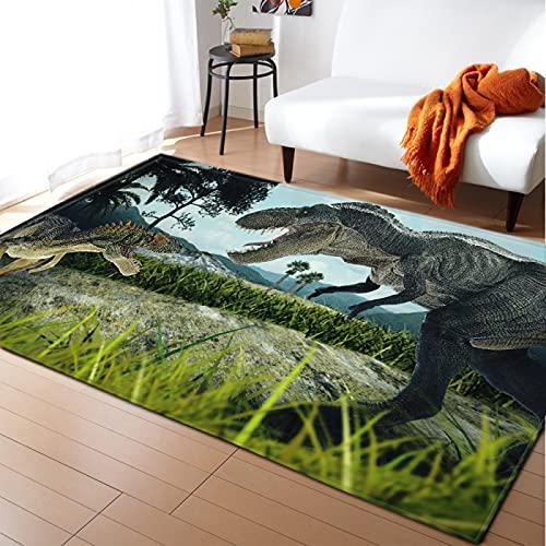 NTtie Alfombras Dormitorio Modernas Pelo Lavables - Alfombra Grande con patrón Animal Creativo Antideslizante.