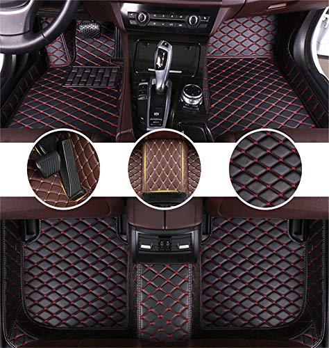 Muchkey AutoFußmattenSetfür Chrysler 300C Sedan 2004-2011 FussmattenAll-SchutzLederwasserdichteAutoZubehör Schwarz&Rot