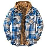 D-Rings Camisa para hombre con forro interior, camisa de leñador térmica, chaqueta de invierno para hombre, Nº 07, M