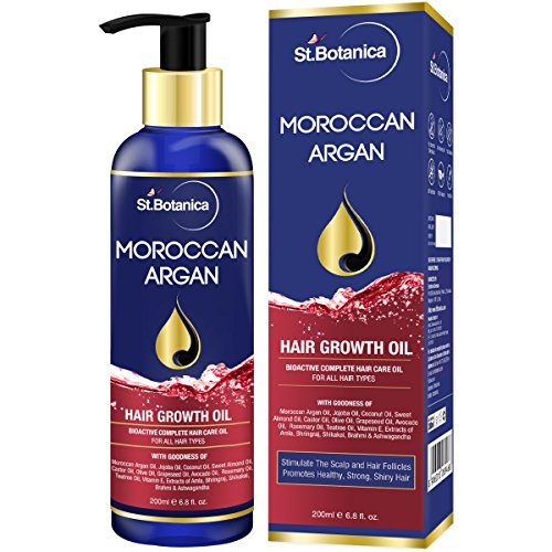 StBotanica Moroccan Argan Hair Growth Oil (With Pure Argan, Jojoba, Almond, Castor, Olive, Avocado,...