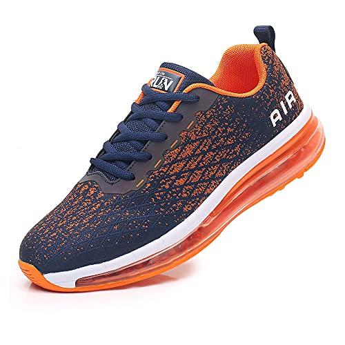 Azooken Chaussures de Course Homme Femme Chaussures de Sport Coussin d'air Baskets Mode Sneakers Casual Fitness Outdoor Sneakers Respirante(8998-OG43)