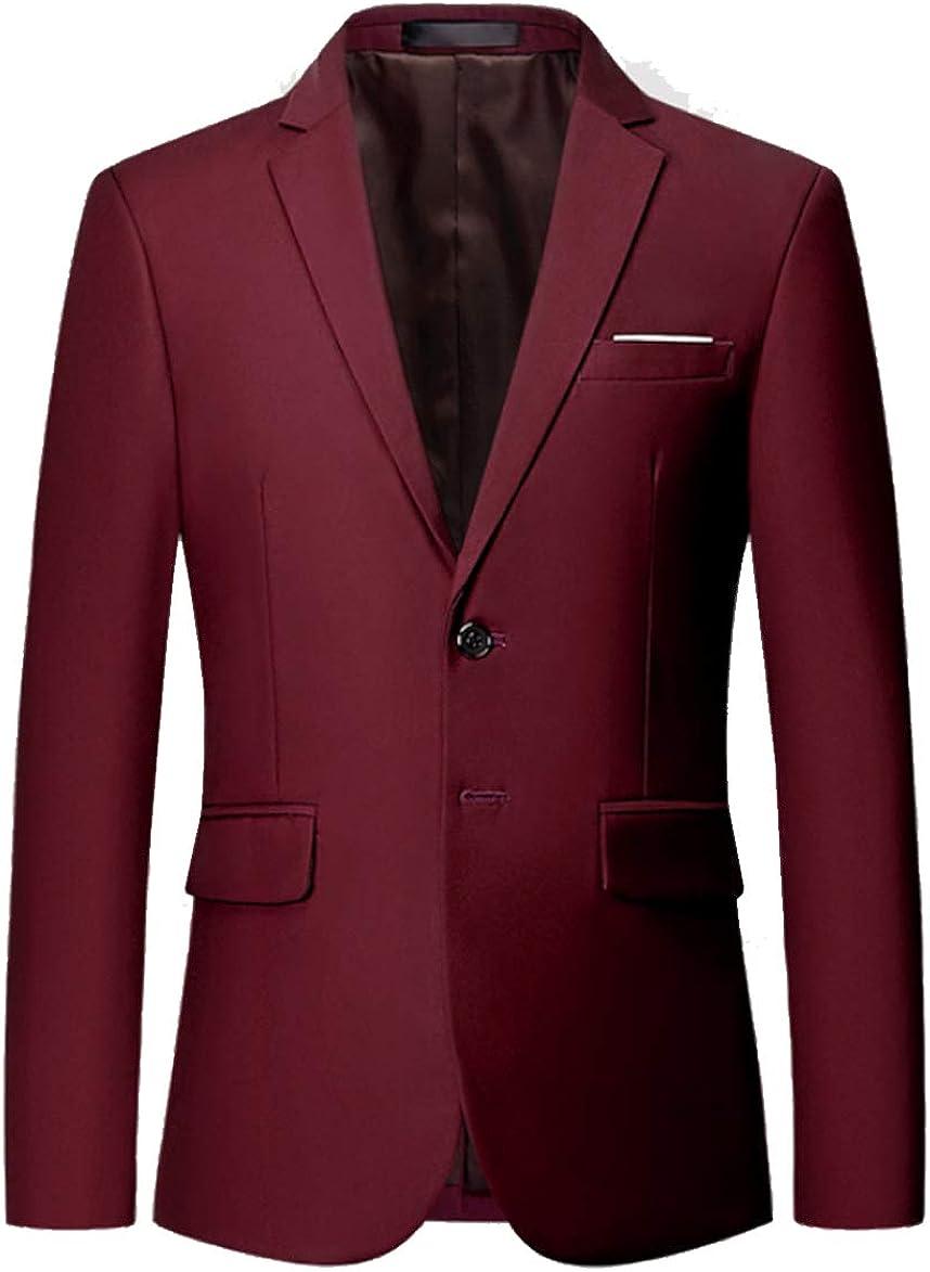 Men's Classic Blazer Jackets Two-Button Lightweight Sports Coats Suit Separate