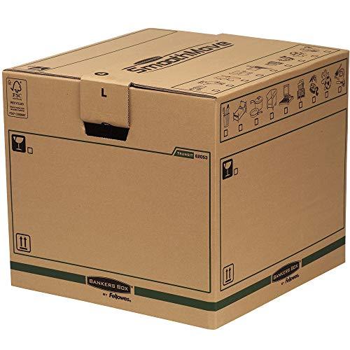 Bankers Box 6205301 Scatola Traslochi Grande SmoothMove, FSC, Confezione da 5 Pezzi