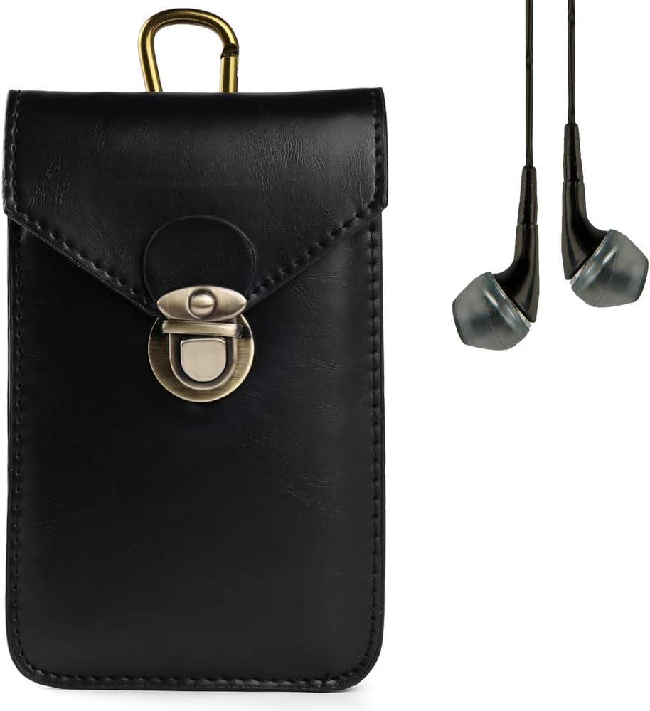 Outdoor Cellphone Holster Vertical Smart Phone Case Pouch Waist Bag for Google Pixel, Pixel XL, HTC U Play, Desire 650, Desire 10 Pro, Desire 10 Lifestyle, Desire 628 Plus Stereo Earphone