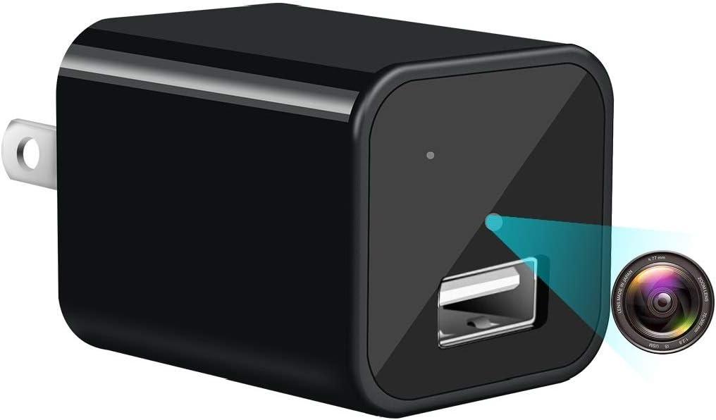 Mini Camera Charger -Full HD 1080P USB Hidden Camera, Nanny Camera,Non WiFi Surveillance Camera for Indoor Outdoor, Covert Security Cameras