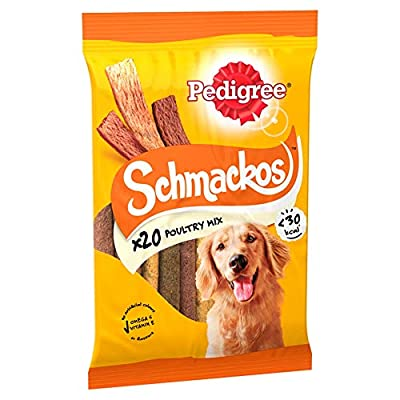 Pedigree Schmackos Dog Treats With Poultry, Pack of 20