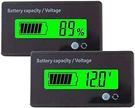 utipower Multifunctional 12V LCD Battery Capacity Monitor Gauge Meter for Lead-Acid Battery Motorcycle Golf Cart Car, Green