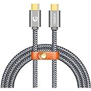 YONTEX USB C auf USB C Kabel, 2M USB 2.0 Typ-C Ladekabel Nylon für MacBook Pro, Google Pixel, OnePlus 3, LG G6, Samsung Galaxy S8, S8 Plus, Nintendo Switch und mehr von YONTEX