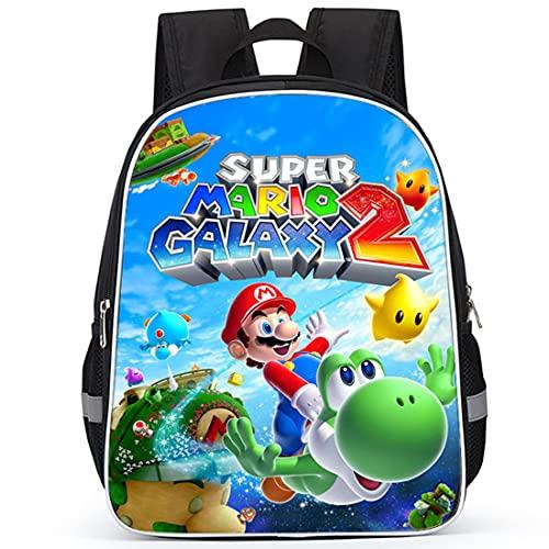 Miotlsy Super Mario Mädchen Jungen Schulrucksack ZSWQ-Cartoon Super Mario wasserdichte Reisetasche Passend Anime Schultasche Rucksack für Kinderrucksack Schultasche fangen