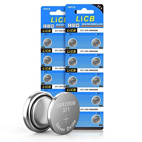 LiCB 20 Stück SR920SW Batterien Uhrenbatterie, 371 V371 AG6 Batterien LR920 SR 920SW 1,5V Knopfzellen