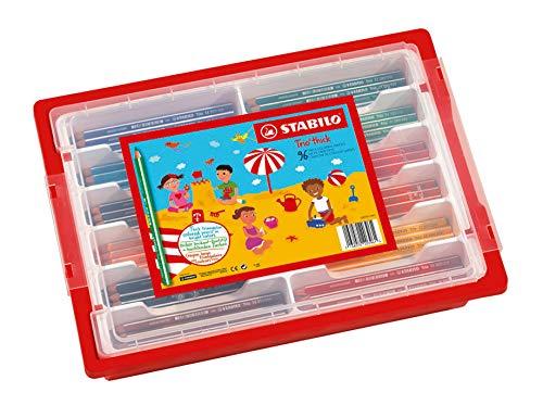 Schoolpack 96 crayons de couleur STABILO Trio