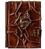 Cuaderno de piel | 'Dragón asiático' | Diario, páginas en blanco | Álbum de poesía, libro de...