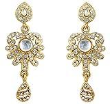 Touchstone tradicional diamantes de imitación Pendientes en oro antiguo del tono para las mujeres