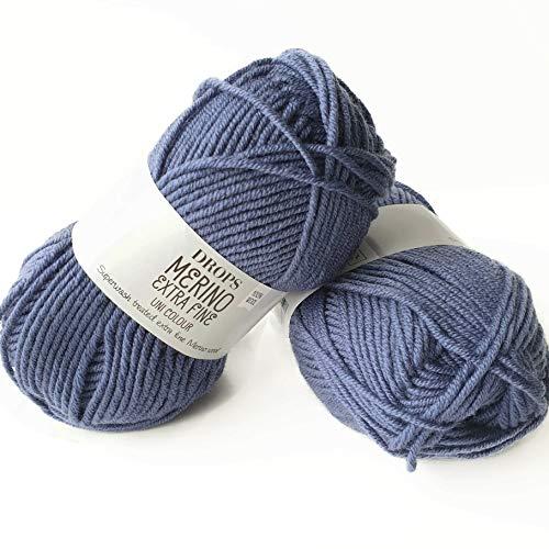 Superwash 100% lana de merino para tejer y ganchillo, 3 o ligero,...