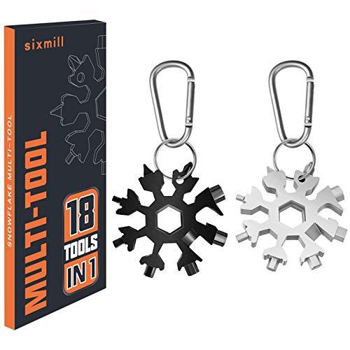 Geschenke für Männer Multi Tool 2 Pack 18 in 1 Schneeflocke Handwerkzeuge im Freien Camping tragbare Flaschenöffner Flachschraubendreher Kit Schraubenschlüssel