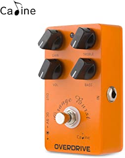 Caline CP-18 Digital Overdrive Guitar Effect Pedal Clean Boost Distortions True Bypass Orange Burst
