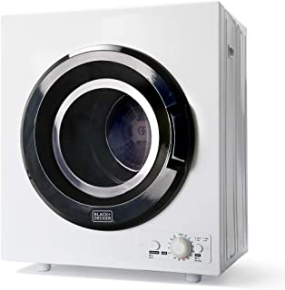 BLACK+DECKER BCED37 Portable Dryer, Small, White