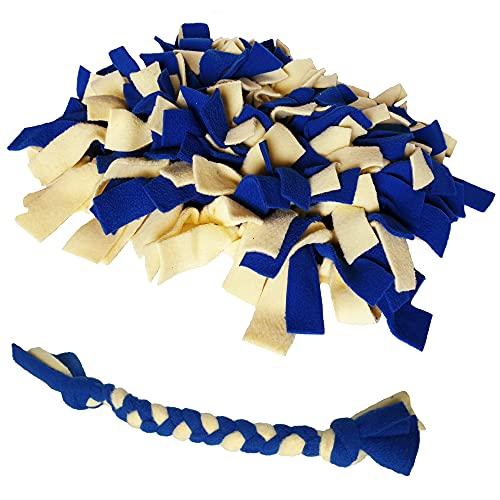 Juguete inteligente de NR para perros, cobayas, conejos, gatos y otras mascotas, para divertirse y contra el estrés, así como para comedero, alfombra para fugas o cama (amarillo/azul)