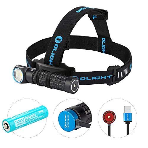 OLIGHT Perun Taschenlampe Stirnlampe 2000 Lumen, aufladbare Kopflampe mit 120 m Leuchtweite, multifunktionales Lichtwerkzeug mit 5 Leuchtstufen, 3500mAh 18650 Batterie