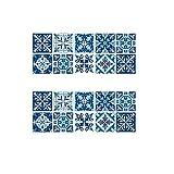 inherited 20pcs Decorativos Adhesivos para Azulejos Pegatina de Pared, Resistentes al Agua y Aceite Cenefa Autoadhesivo, para Baño y Cocina(15×15cm)