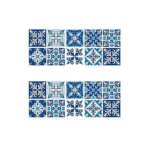 Inherited 20 Pezzi 15x15 Adesivi per Piastrelle, Creative Casa Décor Adesivo, Impermeabile PVC Autoadesivo Decorazione, Adesivi Pavimento per Bagno Cucina Parete Fai da Te
