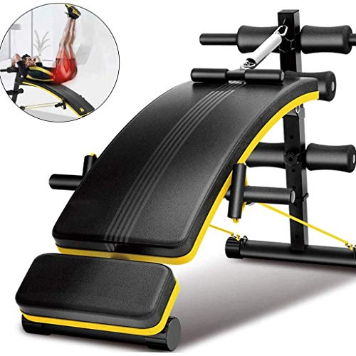 Read About DEJA Sit-up Board,Sit-ups Fitness Equipment, Household Exercise Bench Multi-Function Si...