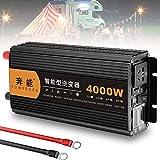 NLJY Inversor De Onda Sinusoidal Pura 1500w 12v 230v Convertidor De Voltaje, 2 USB Y Control Remoto, con Ventilador Inteligente Y Protección contra Cortocircuitos,5000W-12V