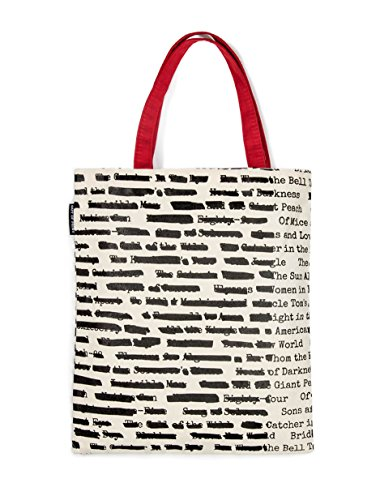 Out of Print Banned Book Tote Bag, 15 X 17 Inches