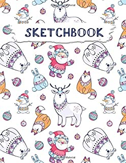 Sketchbook: Christmas Pattern Practice Drawing, Paint, Write, Doodle, Large Blank Pages 8.5 x 11 for Notes, Sketching, Creative Diary, Manga and Journal (Volume 31)
