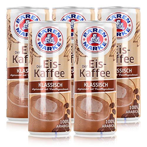 Bärenmarke Eiskaffee 0,25 Liter Dose - 1,8% Fett im Milchanteil - 100% Arabica (5er Pack)