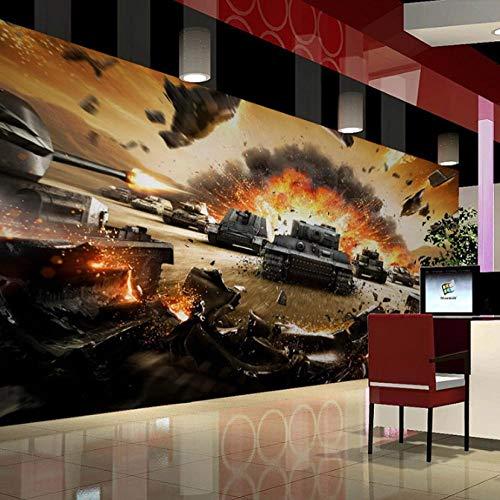 sswyfc Woonkamer-woonkamer-tv-achterwand-koffiebehangmuurschilderij van behang 3D