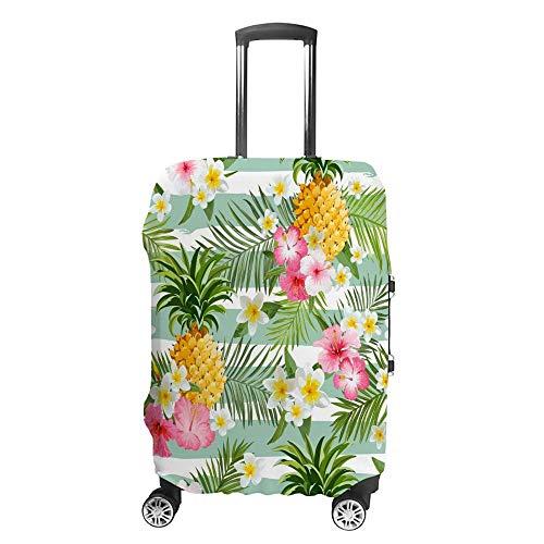 Funda de equipaje gruesa lavable, diseño tropical, fibra de poliéster, elástica, plegable, ligera, protector de maleta de viaje
