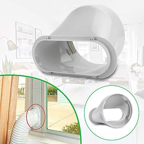 Topteng Abluftschlauch Fenster-Adapter-Kit für tragbare Klimaanlagen-Schlauch-Flachstecker