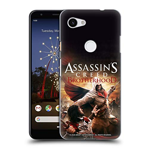 Head Case Designs Officiel Assassins Creed Ezio Battle Fraternité Art Clé Coque Dure Pour Larrière Compatible Avec Google Pixel 3a