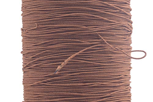 KONMAY 500 Meters 0.5mm Tan Sewing Elastic Thread for Shirring, Smocking, Gathering, Tag Strings