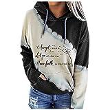 MINYING Sweat à Capuche Femme Pull à Capuche Hoodie Veste Sweater Femmes Tops en Tricot Casual Sweatshirt Manches Longues Bloc de Couleur Printemps Automne Pullover Sportwear Chandail