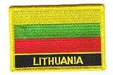Flaggen Aufnäher Patch Litauen Schrift Fahne NEU