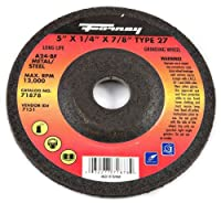 Forney 71878 Grinding Wheel with 7/8-Inch Arbor Metal Type 27 A24R-BF 5-Inch-by-1/4-Inch [並行輸入品]
