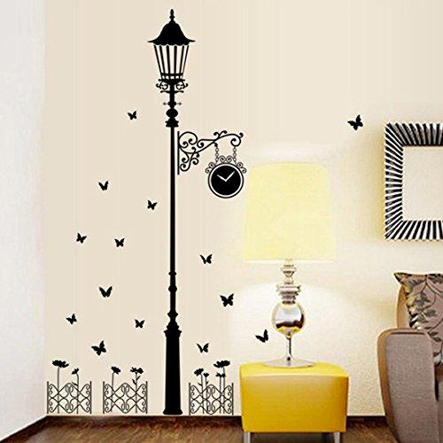 Fashionbeautybuy - Adesivo da parete con farfalle a forma di luce nera, rimovibile, per soggiorno, camera da letto, cucina, decorazione in PVC, con adesivo 3D per auto, idea regalo