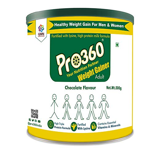 Pro360 Weight Gainer Chocolate Flavour| More Calorie |Dietary Supplement |Ready To Serve |Weight Gain For Men & Women- 500 Gm