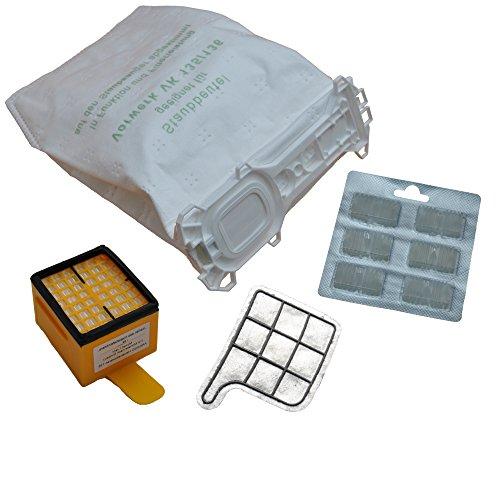 12 bolsas de tela para aspiradoras + filtro higiénico + filtro de protección del motor + 12 piedras aromáticas para Vorwerk - Kobold 135 / 136 / 135SC / VK135 / VK136