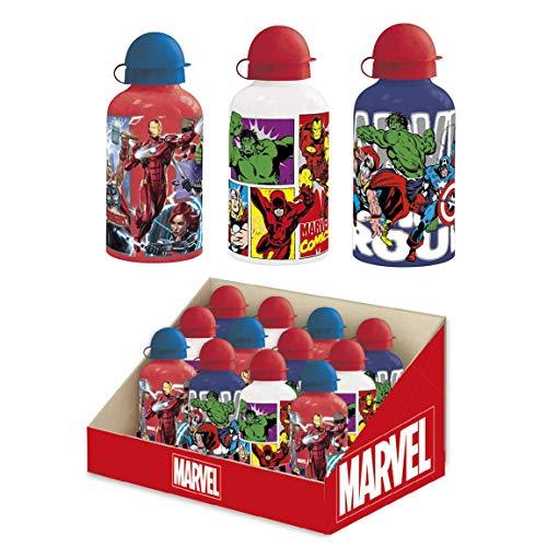 Cerdá, Botella de Aluminio para Agua Color Rojo-Licencia Oficial de The Avangers de Marvel Studios Unisex niños, Red, 500 ML: 4,4,4