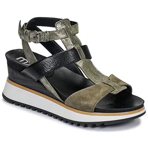 Mjus 912004-301-0001 - Damen Schuhe Sandaletten - foresta-Nero, Größe:39 EU
