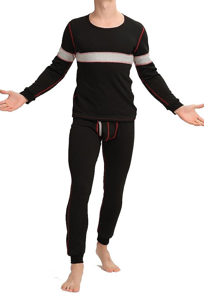 Louis Rouse Men's Thermal Underwear Set Fleece Inside Added