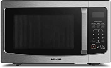 Toshiba ML-EM34P(SS) Smart Countertop Microwave Oven Works with Alexa, Humidity Sensor and Sound On/Off Function, 1100W, 1.3 Cu.ft, Stainless Steel