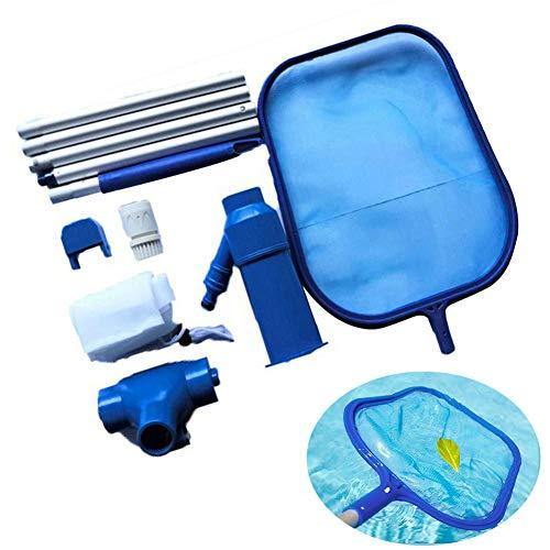 ZXCV Red Limpia para Piscinas, purificador de Agua para natación Kit de Red de Limpieza de Cabeza de succión Herramienta de Limpieza