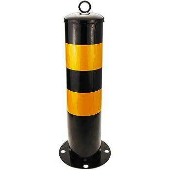 Rocwing base negra de f/útbol Perno plegable de metal para estacionamiento de entrada de seguridad
