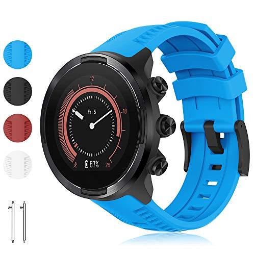 Yaspark Kompatibel für Suunto 9 Armband, 24mm Silikon Ersatz Armbänder Verstellbares Zubehör Uhrenarmband für Suunto 9 Baro/Suunto 7 Baro/Suunto Spartan Sport Wrist HR/Suunto D5 Smart Watch