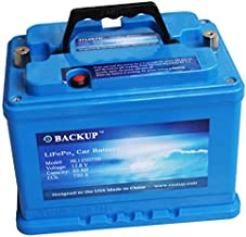 Eastup 1250750 Lithium Iron Phosphate (LiFePo4) Automotive Replacement Battery 12V 50AH, Cold Cranking Amps (CCA) 750A, 640Wh 10+ Years Lifetime. …